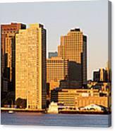 Sunrise, Skyline, Boston Canvas Print