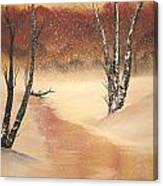 Sunrise Snow Canvas Print