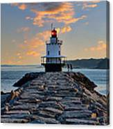Sunrise Spring Point Ledge Canvas Print