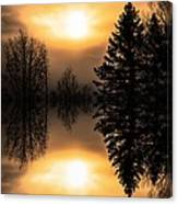 Sunrise-sundown Canvas Print