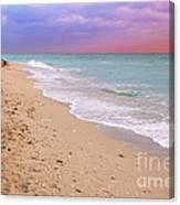 Sunrise Surf At Miami Beach  Canvas Print