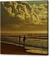 Sunrise Surf Fishing Canvas Print