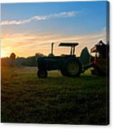 Sunrise Tractor Canvas Print