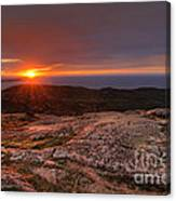 Sunrise View From Cadillac Mountain Canvas Print