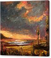 Sunrise With Birds  Canvas Print