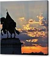 Sunrise With Saint Louis The 9th Canvas Print