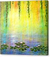 Sunrise With Water Lilies Canvas Print