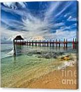 Sunscape Sabor Pier Canvas Print