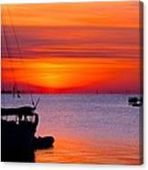 Sunset @ Galveston Bay Canvas Print