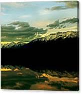 Sunset 1 Rainy Lake Canvas Print