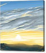Sunset Above The Hill Canvas Print