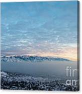 Sunset Above The Smog  Canvas Print