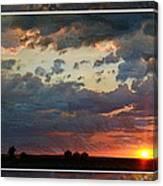 Sunset After A Thunderstorm Photoart Canvas Print