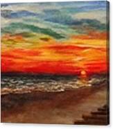 Sunset After Sandy Canvas Print