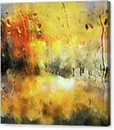 Sunset After The Storm Abstract Canvas Print