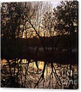 Sunset Along Jordan Creek Canvas Print