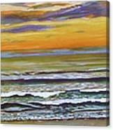 Sunset Along Maine Coast Canvas Print