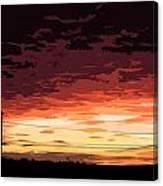 Sunset Alternative Canvas Print
