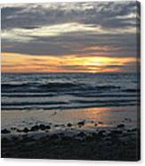 Sunset Amoung The Clouds Canvas Print