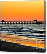 Sunset Apache Pier Canvas Print