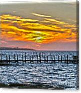 Sunset Art Outer Banks Canvas Print