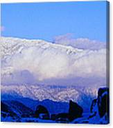 Sunset At Alabama Hills And Inyo Canvas Print