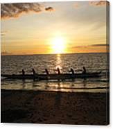 Sunset At Anaeho'omalu Bay Canvas Print