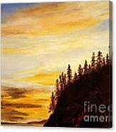 Sunset At Bass Harbor Canvas Print