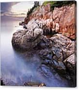 Sunset At Bass Harbor Lighthouse Canvas Print