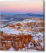 Sunset At Bryce Canyon National Park Utah Canvas Print