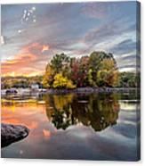 Sunset At Cambridge Reservoir Canvas Print