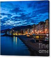 Sunset At Camogli In Liguria - Italy Canvas Print
