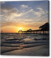 Sunset At Clearwater Canvas Print