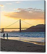 Sunset At Crissy Field With Golden Gate Bridge San Francisco Ca 5 Canvas Print