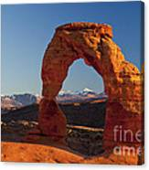 Sunset At Delicate Arch Canvas Print