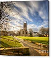 Sunset At Derby Cathedral Park Canvas Print
