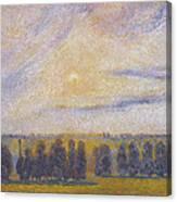 Sunset At Eragny, 1890 Canvas Print