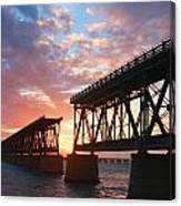 Sunset At Flagler Bridge Canvas Print