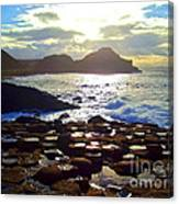 sunset at Giant's Causeway Canvas Print