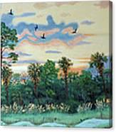 Sunset At Hunting Island Canvas Print