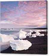 Sunset At Ice Beach Canvas Print
