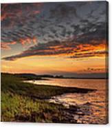 Sunset At Kent Narrows Canvas Print
