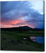 Sunset At Locke's Pond - Big Horn Mountains - Buffalo Wyoming Canvas Print