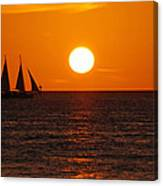 Sunset At Mallory Square Canvas Print