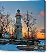 Sunset At Marblehead Lighthouse Canvas Print