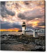 Sunset At Marshall Point Canvas Print