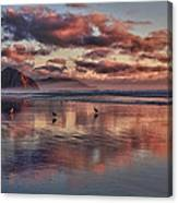 Sunset At Morro Strand Canvas Print