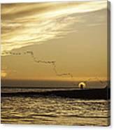 Sunset At Natural Bridges By David Kerbyson  Canvas Print