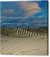 Sunset At Nauset Beach Cape Cod Canvas Print