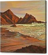 Sunset At Pfeiffer Beach Canvas Print